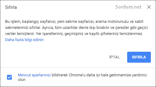 Chrome Varsayılan