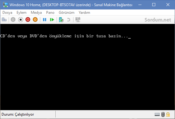 Hyper v ile iso dan boot
