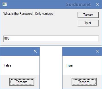 Registry değeri karşılaştırma sonucu