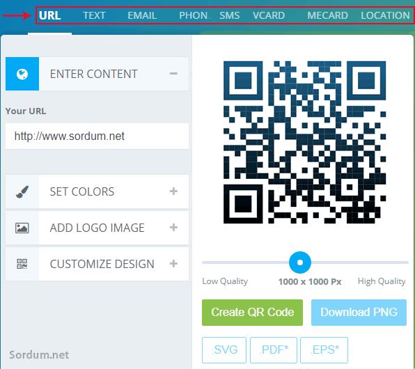 QR kodu websayfası