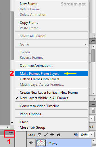 Photoshop make rames from layers