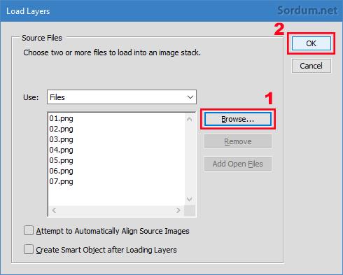 Photoshopta dosya seçimi