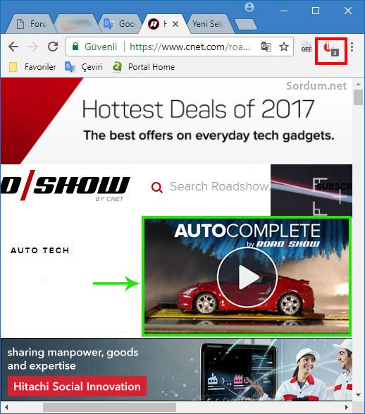 Sayfada sesli reklam