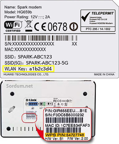 wlan key veya wps pin
