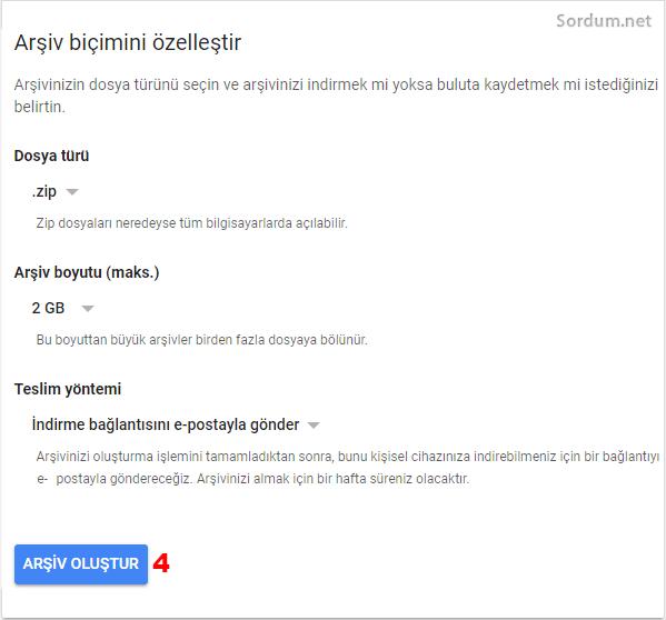 gmailde arşiv oluşturmak