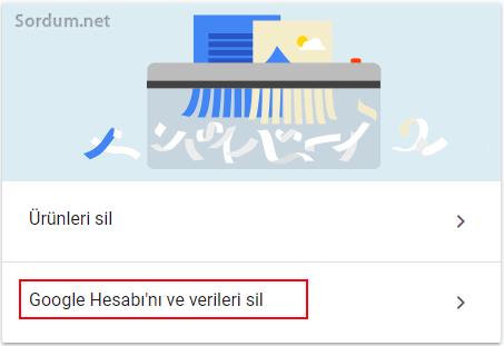 Google hesabını sil