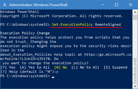 Powershell remote signed