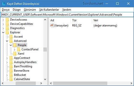 Registry alt anahtarı