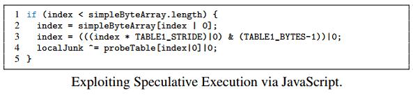 spectre açığı javascript