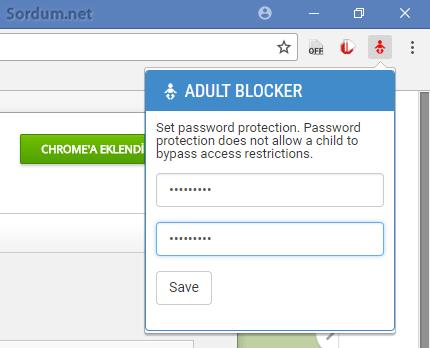 Adult blocker şifre