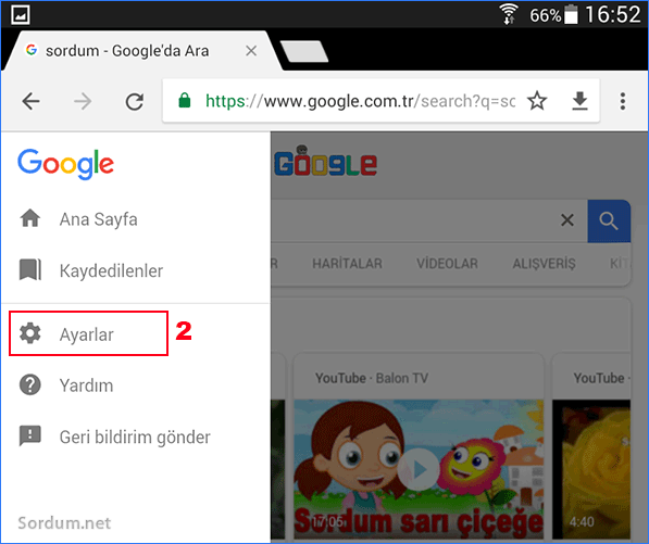chrome mbilde ayarlar