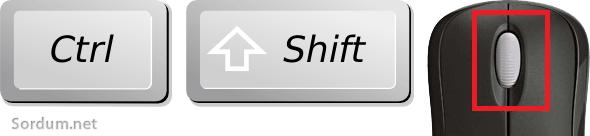 Ctr + Shift