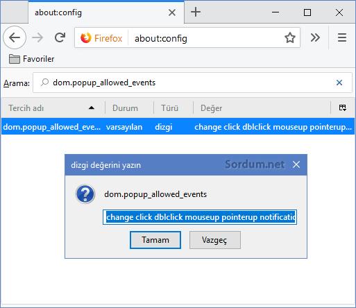 Firefox dom popup