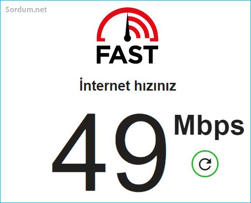 İnternet hızı