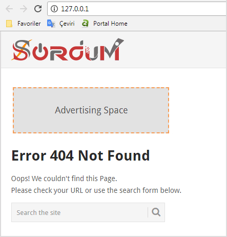 Easyphp 404 hatası
