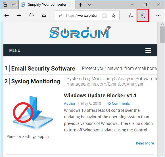 Microsoft EDGE de Notlar ekle özelliği