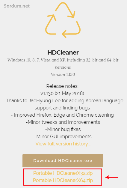 HD cleaner portable indir