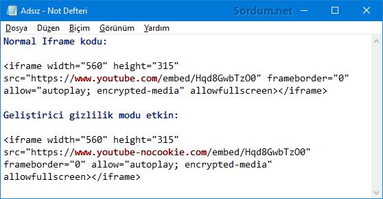 Youtube normal ve gizlilik modu farkı