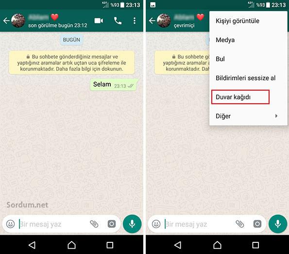 Whatsapp de duvar kağıdı nasıl değişir