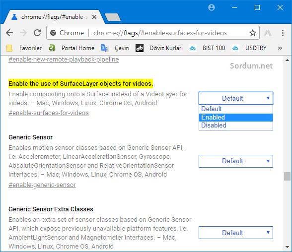 Chromede geliştirici seçeneğini aktif etmek