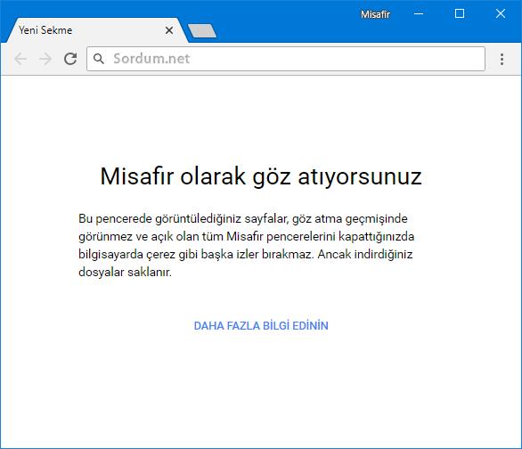Chrome misafir modu