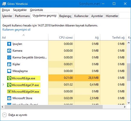 Microsoft EDGE önyükleme
