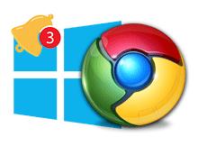 Windows 10 da Chrome bildirimleri