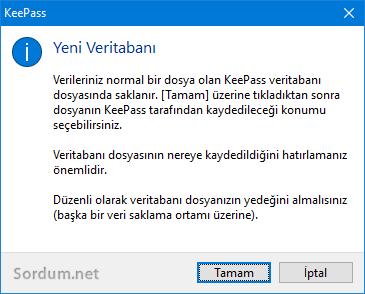 KeePass veritabanı uyaırısı