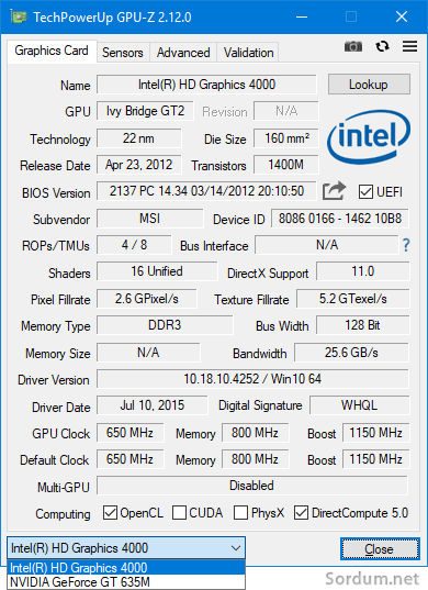 GPU-Z Onboard