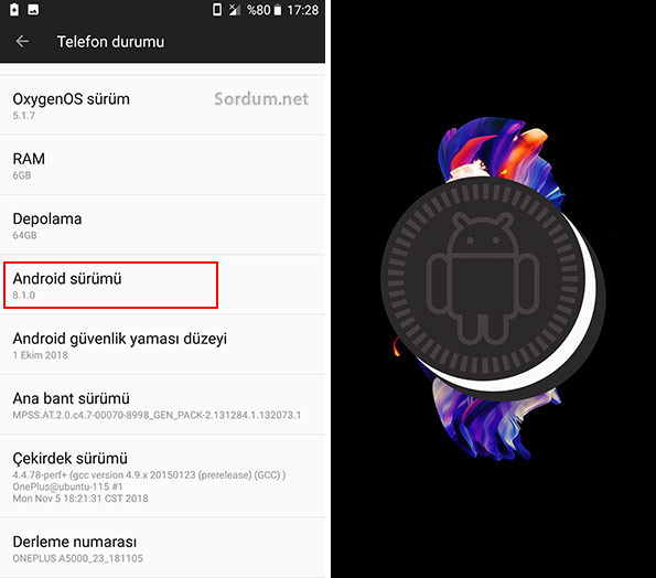 Android sürümü