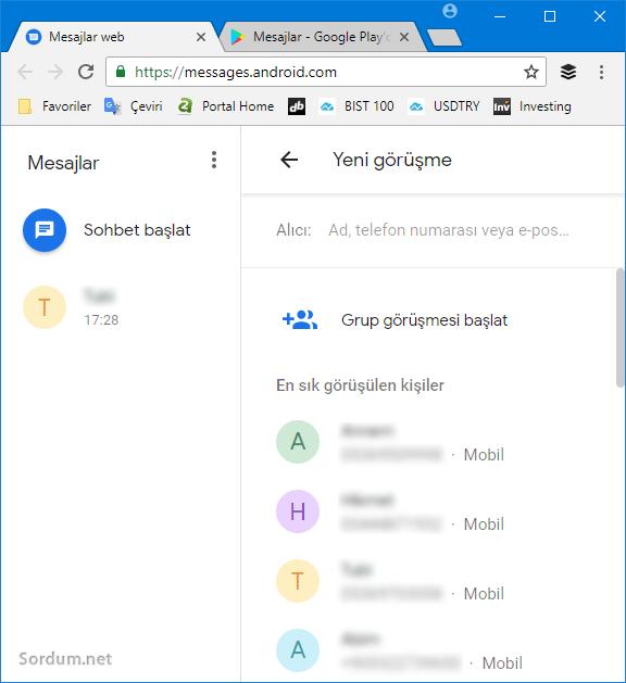 Bilgisayardan Sms yollamak