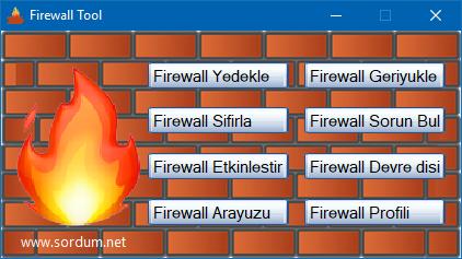 Firewall tool yazılımı