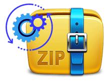 Her bir dosya veya alt klasör ayrı bir zip dosyası olsun