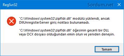 zipfldr.dll hatası