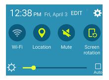 Android üst menü ayar