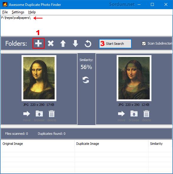 Çift resimleri bulma yazılımı