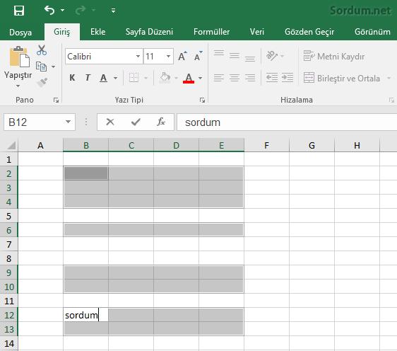 Excel toplu yazdırma