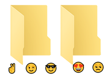 Klasör isminde emoji kullanmak