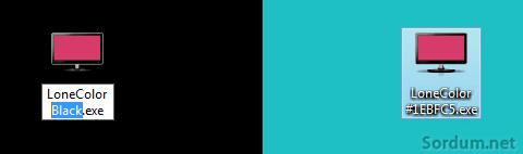 lonecolor ile renkler