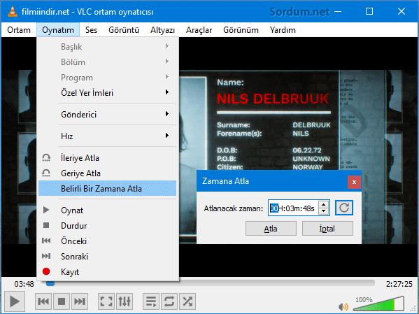 VLC zamana atla