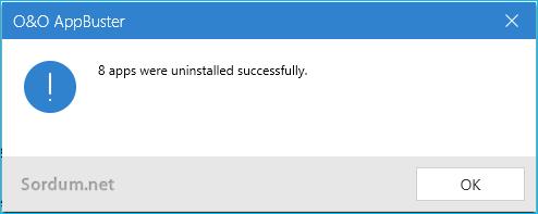 Appbuster yazılımlar kaldırıldı