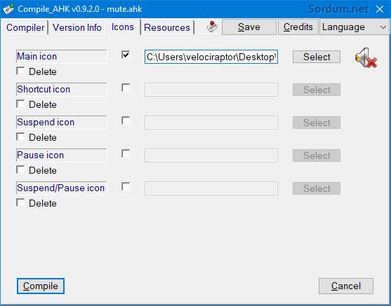 compile ahk ikon ayarı