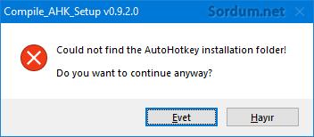 Compile AHK setup hatası