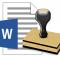 Microsoft word a filigran eklemek