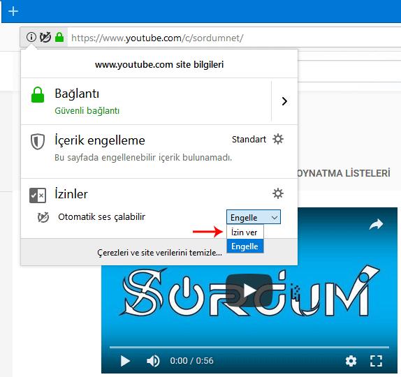 Firefox otomatik oynatmaya izin ver