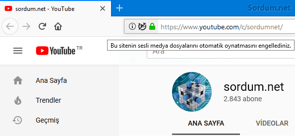 Sesli video engellendi