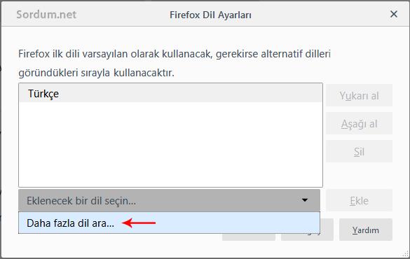 Firefox daha fazla dil ara