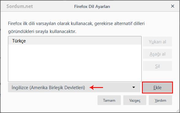 firefoxa yeni dil ekleme panceresi