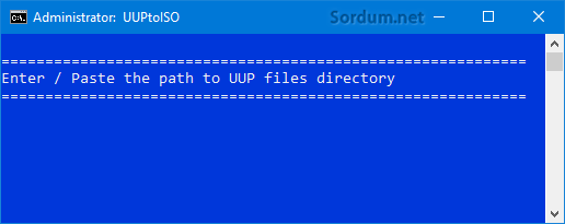 UUP dosyalarının yolu soruluyor