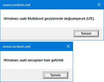 Vbs ile multiboot ta saatin değişmesini engelleyelim